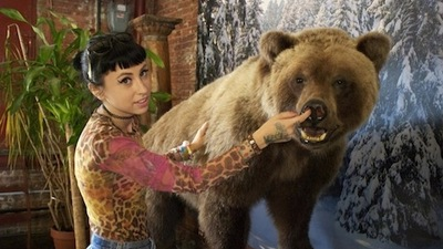 We Had a Convo Date with Kreayshawn and a Taxidermied Bear