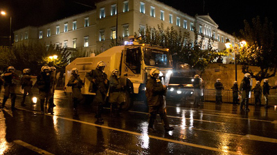 The Greek Police Got to Use Their Shiny New Water Cannon