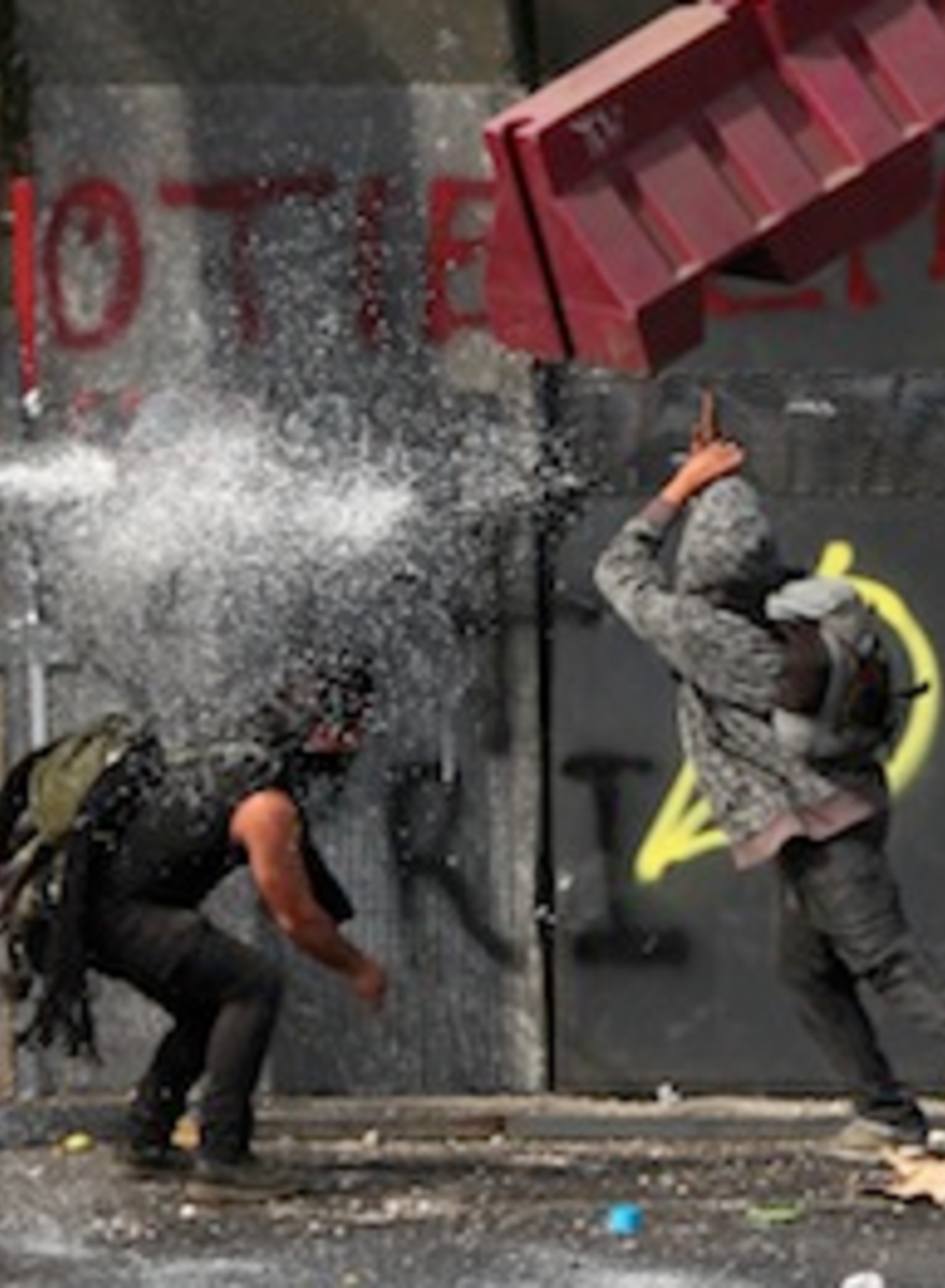 Mexico Welcomed Its New President with Molotovs and Rubber Bullets