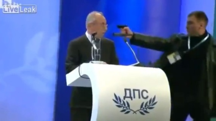 Hey Man, Nice Shot - Video of a Bulgarian Politician Escaping Assassination