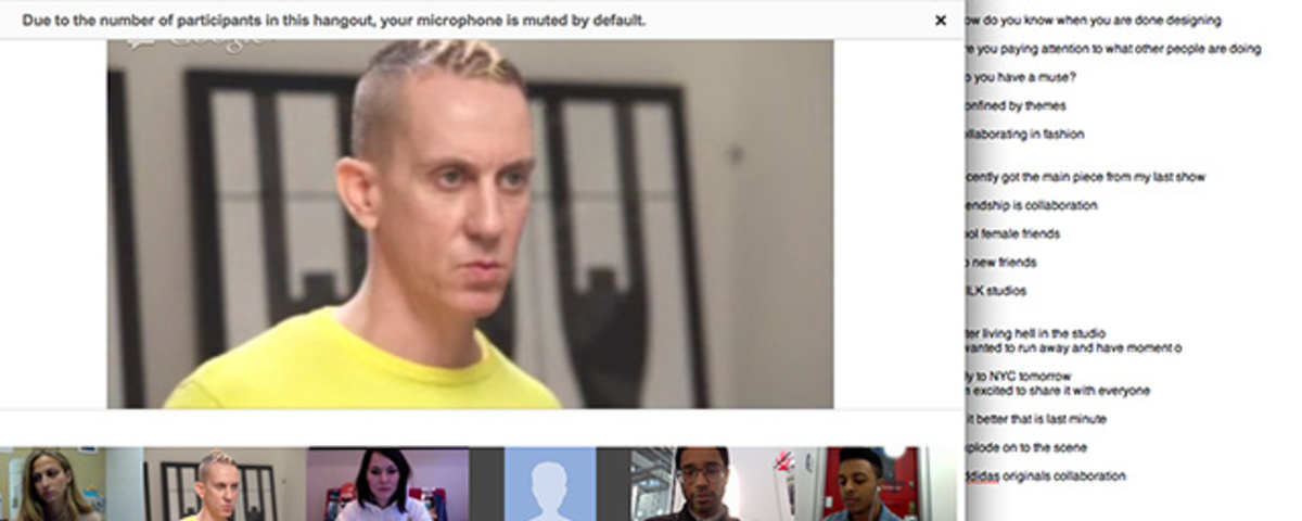 I Talked to Jeremy Scott and Rochambeau on Video Chat