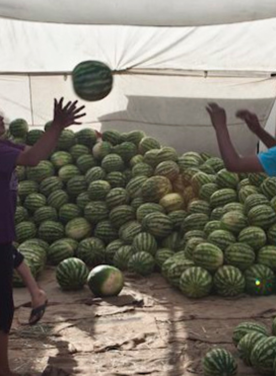 Tossing Watermelons in Tajikistan