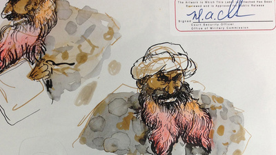 Molly Crabapple Sent Us Sketches from Khalid Sheikh Mohammed's Pretrial Hearings at Gitmo