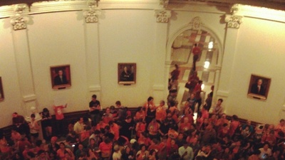 Scenes from the Pro-Choice Chaos at the Texas Capitol