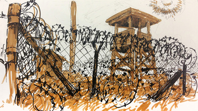 Molly Crabapple Draws Guantanamo's Camp X-Ray
