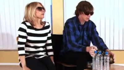 At ATP UK - Kim Gordon and Thurston Moore