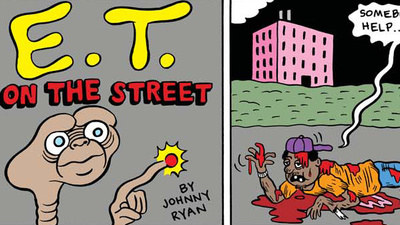 La página de Johnny Ryan: E.T. on the street