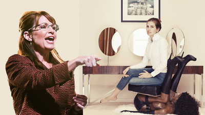 "Sarah Palin Complains About ""the Race Card"" and a Chair That Looks Like a Black Woman"