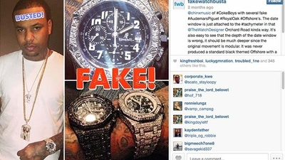 The Anonymous Instagram User Who Calls Out Rappers with Fake Watches