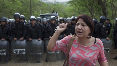 Police Violently Evict the La Puya Peaceful Mining Resistance