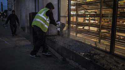 Activists Poured Concrete on 'Anti-Homeless' Spikes in London This Morning