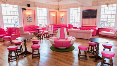 I Went to an All-Pink 'Beauty Pub' to Watch the World Cup Because I'm a Girl