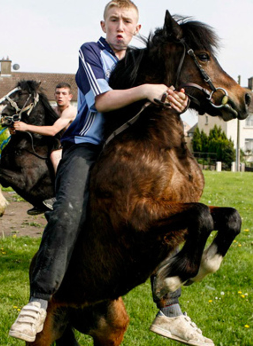Photographing the Horse Riding Nike Wearing Tough Kids of Dublin