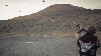 Johnny Dronehunter May Be a Character in a Gun Commercial but He's the Hero America Needs