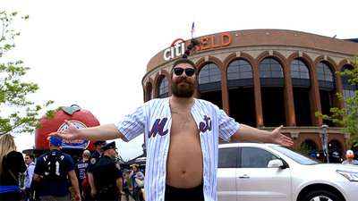 The Fat Jew Commiserates with Mets Fans at Citi Field