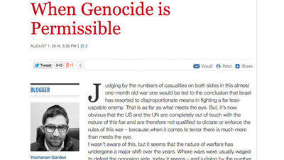 'When Genocide Is Permissible': The Unsettling Op-Ed That Never Was
