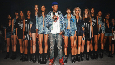 Pharrell Presented a Denim Collection Made From Recycled Garbage at Fashion Week