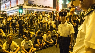Sobre el terreno de las protestas de Occupy Central en Hong Kong