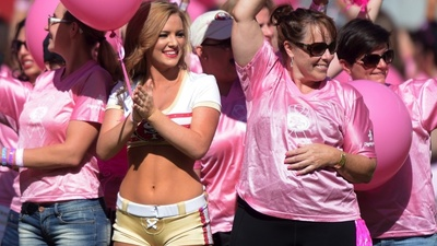 The NFL's Pink October Doesn't Raise Money for Breast Cancer Research