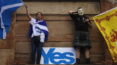 Scottish Independence Campaigners and Conspiracy Theorists Gathered in Glasgow on Sunday