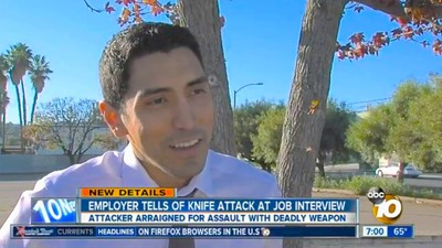 This Guy Got Stabbed by the Man He Was Interviewing for a Job
