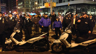 Here's How New Yorkers Reacted to the Ferguson Grand Jury Decision