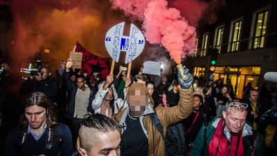 We Watched Londoners Vent Their Fury at the Michael Brown Killing Last Night