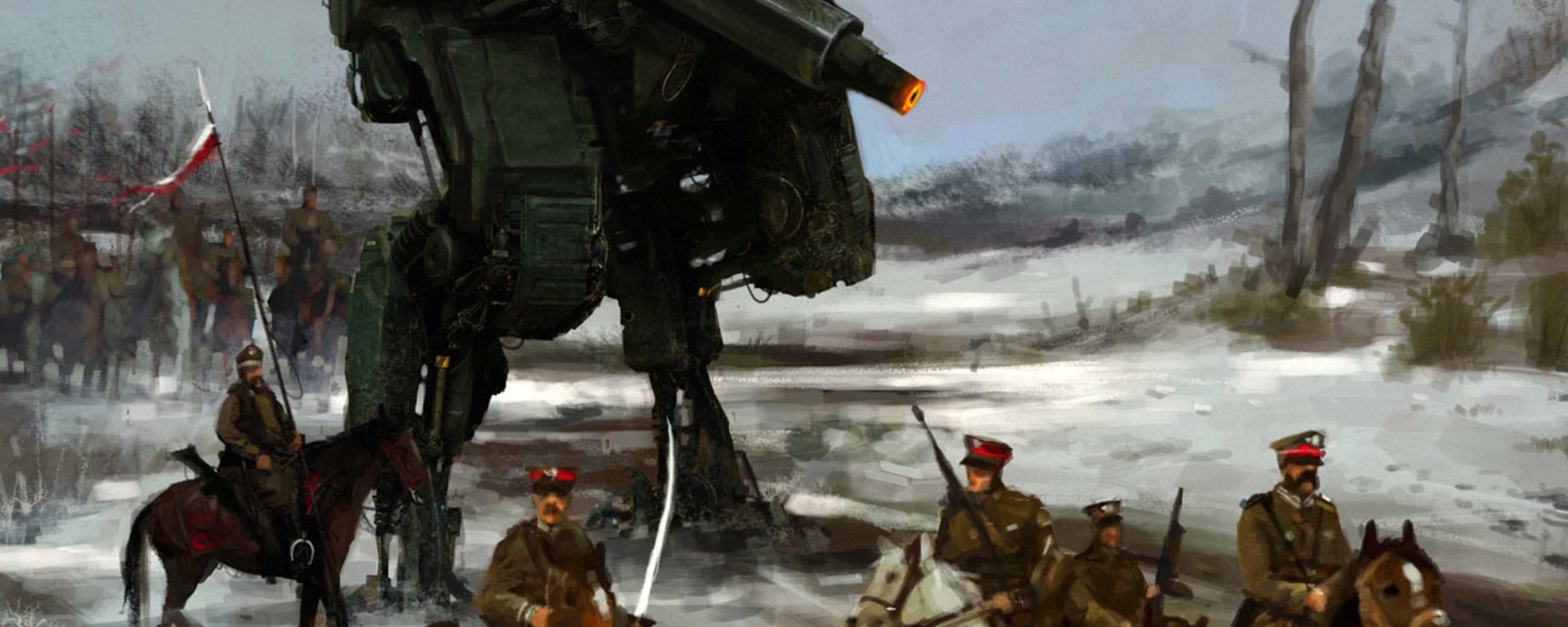 Jakub Różalski Reimagines the Polish-Soviet War With Robots