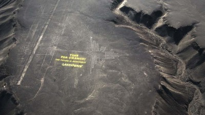 Drone Footage Shows How Badly Greenpeace Damaged Ancient Geoglyphs in Peru