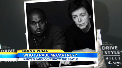 The Media Got Trolled Into Thinking Kanye West Fans Don't Know Who Paul McCartney Is