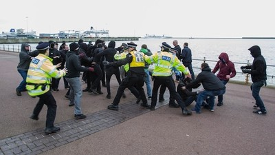 English Fascists Took a Beating in Dover On Sunday