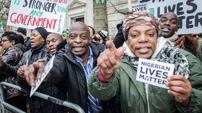 London's Nigerian Community Gathered On Sunday to Say #NigerianLivesMatter