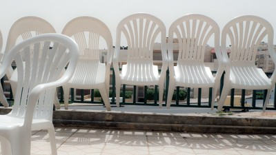 White Plastic Chairs Are Taking Over the World