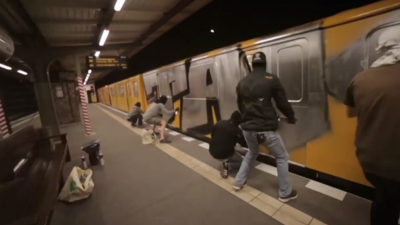 A Graffiti Writer Explains How to Paint a Subway Car in Minutes
