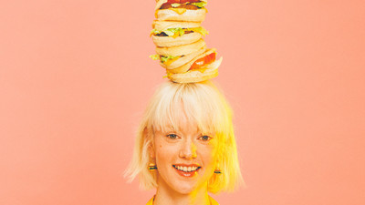 Balancing Ten Burgers on Your Head Is a Lot Easier Than You'd Think