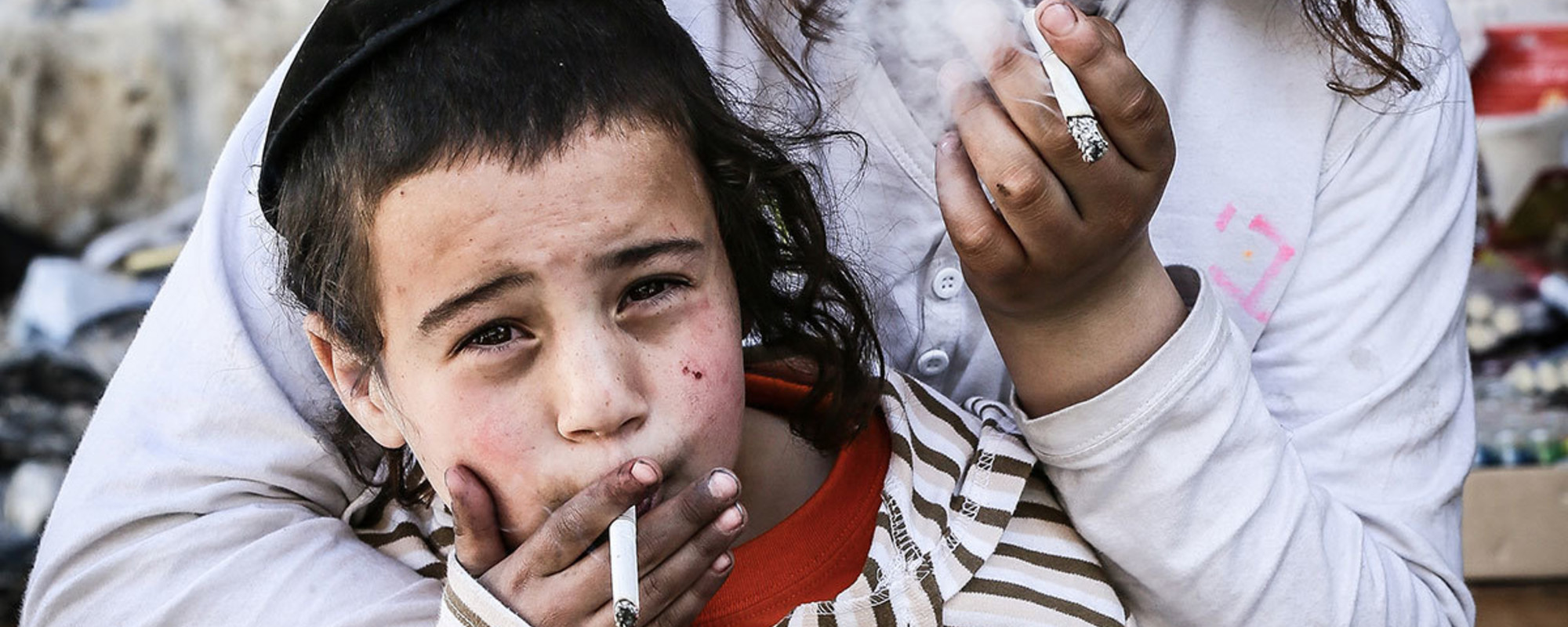 Kids in Jerusalem Celebrated Purim by Smoking Tons of Cigarettes