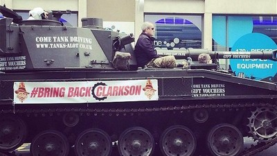 Protesters Drove a Tank to the BBC's London Headquarters Because They Love Jeremy Clarkson
