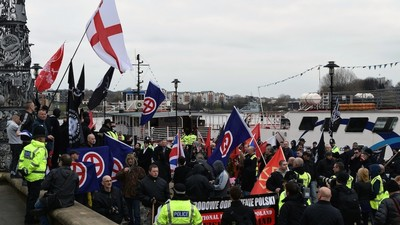 English Nazis Held a 'White Man March' Over the Weekend