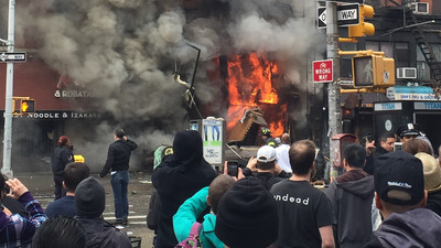A Building Exploded in the East Village This Afternoon