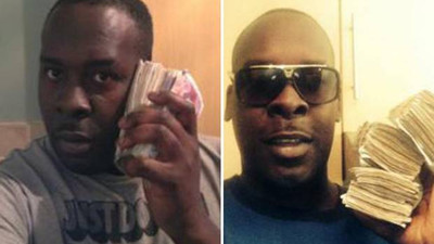 A London Drug Dealer Just Got Six Years in Jail After Police Found Him Posing For Selfies Using Wads of Cash Like a Telephone