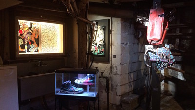 RAE's Latest Art Show Opened Friday Night in the Basement of a Chinatown Butcher Shop