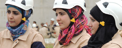Syria's First Responders Welcome Female Recruits