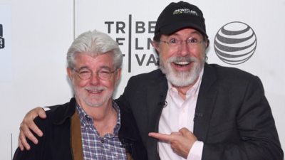 George Lucas and Stephen Colbert Hung Out Yesterday and Talked About Filmmaking and Francis Ford Coppola