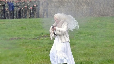 500 Soldiers Fought Against One AK-47 Wielding Bride in Moldova this Week