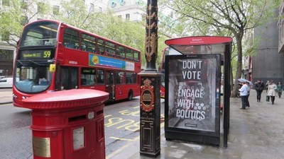 We Spoke to One of the Activists Who Covered London in Anti-Voting Posters