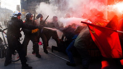 A Dispatch from Montreal's Raucous, Tear Gas–Filled May Day Protest