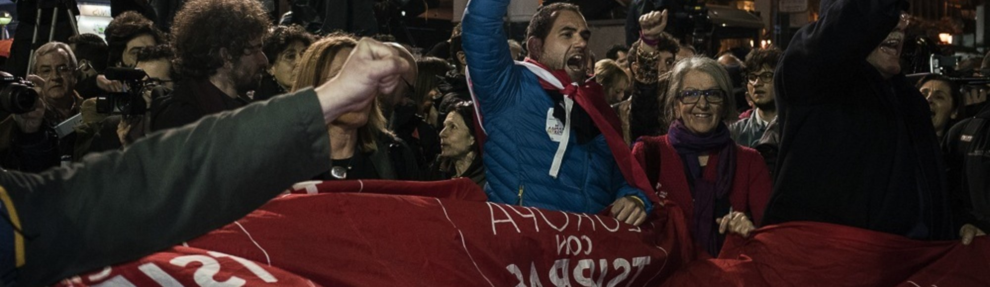 Greeks Celebrate the Country's Historic Left-Wing Election Win