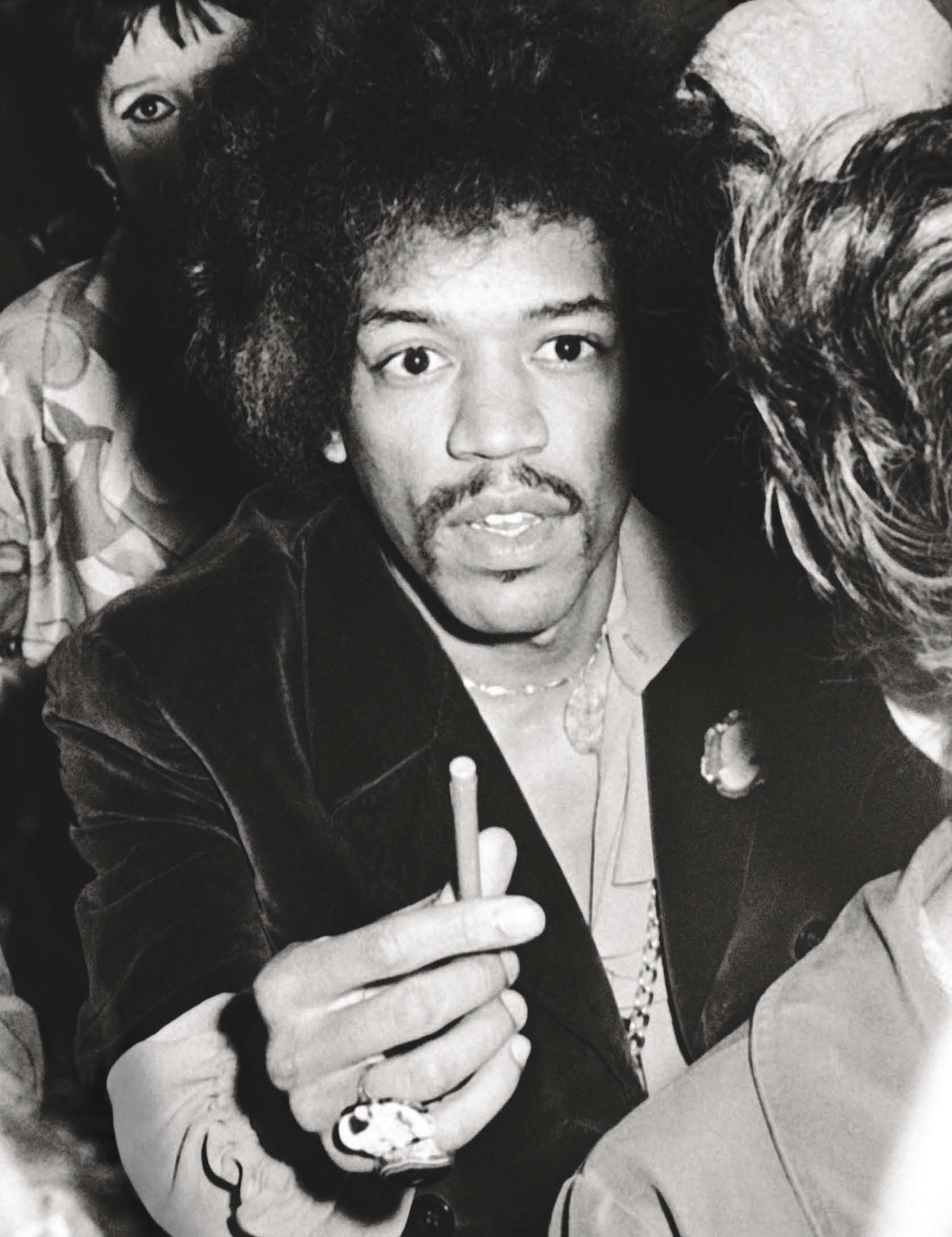 Jimi Hendrix in the crowd at the Martin Luther King Jr. Benefit Concert at Madison Square Garden on June 28, 1968.