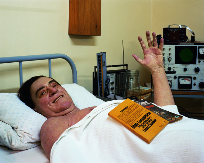 A wax mannequin of Louis Washkansky, who in 1967 became the world's first human heart transplant recipient, at the Heart of Cape Town Museum 2008