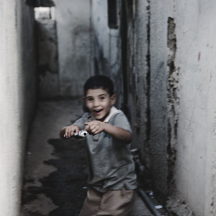 A Palestinian boy in a Bethlehem refugee camp, 2008.